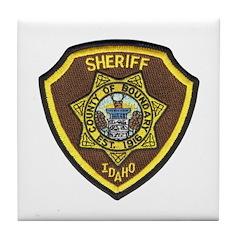 Boundry County Sheriff Tile Coaster