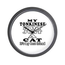 Tonkinese Cat Designs Wall Clock