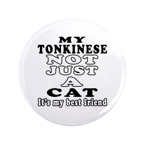 """Tonkinese Cat Designs 3.5"""" Button (100 pack)"""