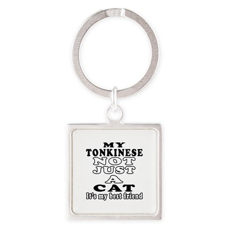 Tonkinese Cat Designs Square Keychain