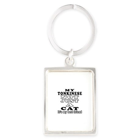 Tonkinese Cat Designs Portrait Keychain