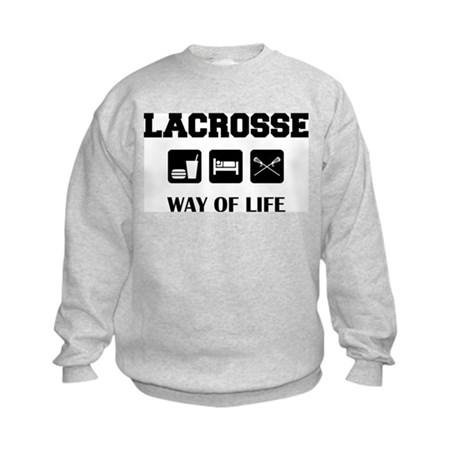 Eat Sleep Lacrosse Kids Sweatshirt