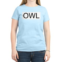 OWL Women's Pink T-Shirt