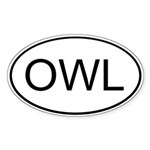 OWL Oval Sticker