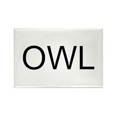 OWL Rectangle Magnet (100 pack)