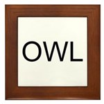 OWL Framed Tile