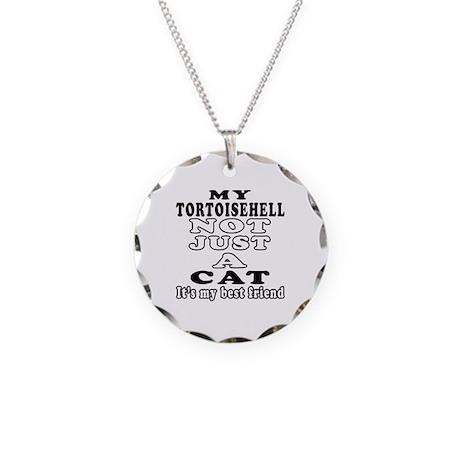 Tortoisehell Cat Designs Necklace Circle Charm