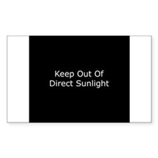 Keep Out of Direct Sunlight Rectangle Decal