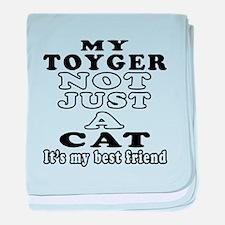 Toyger Cat Designs baby blanket