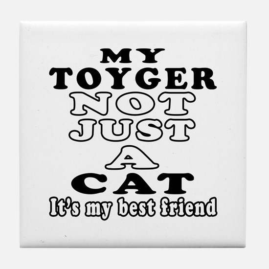 Toyger Cat Designs Tile Coaster