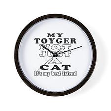 Toyger Cat Designs Wall Clock