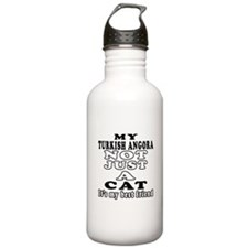 Turkish Angora Cat Designs Sports Water Bottle