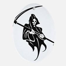 Grim Reaper Ornament (Oval)