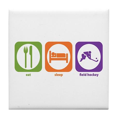 Eat Sleep Field Hockey Tile Coaster