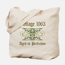 1963 Vintage Birthday (Old English) Tote Bag