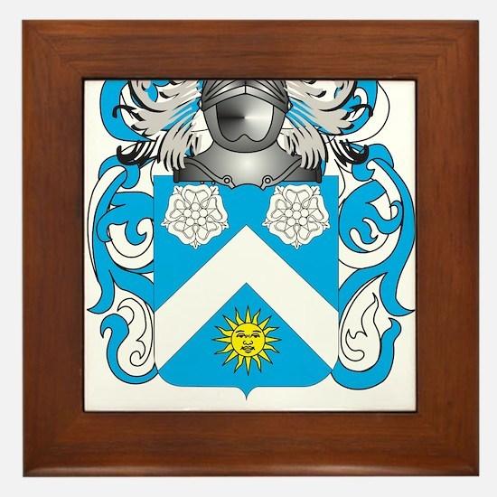 Mustard Coat of Arms - Family Crest Framed Tile