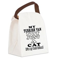Turkish Van Cat Designs Canvas Lunch Bag