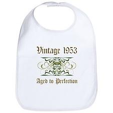 1953 Vintage Birthday (Old English) Bib
