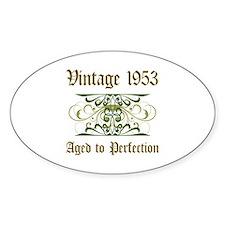 1953 Vintage Birthday (Old English) Decal