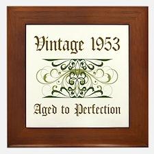 1953 Vintage Birthday (Old English) Framed Tile