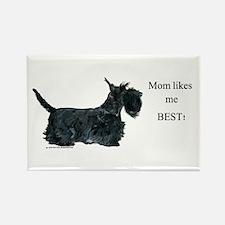 Mom's Scottish Terrier Rectangle Magnet