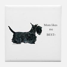 Mom's Scottish Terrier Tile Coaster