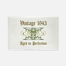 1943 Vintage Birthday (Old English) Rectangle Magn
