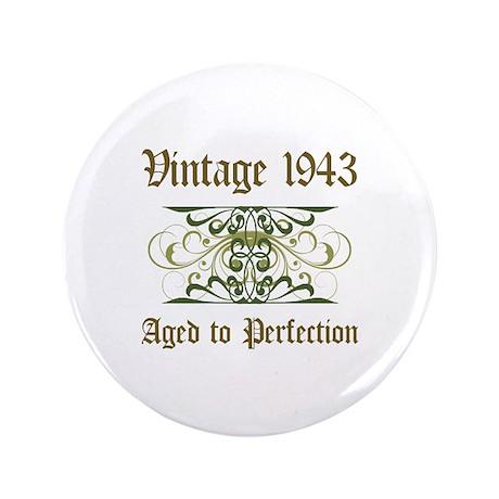 "1943 Vintage Birthday (Old English) 3.5"" Button"