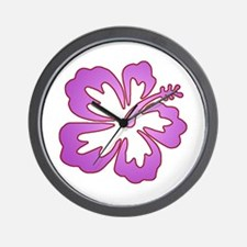 Surf Flowers (Purple and Red) Wall Clock