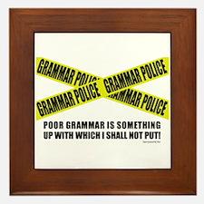 Grammar Police (2) Framed Tile