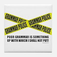 Grammar Police (2) Tile Coaster