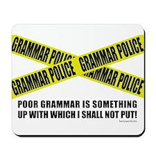 Grammar Police (2) Mousepad
