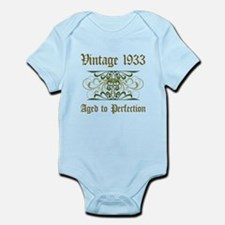 1933 Vintage Birthday (Old English) Infant Bodysui