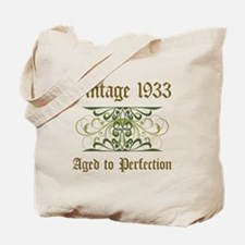 1933 Vintage Birthday (Old English) Tote Bag