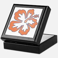 Surf Flowers (Orange and Blue) Keepsake Box