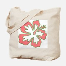 Surf Flowers (Pink and Green) Tote Bag