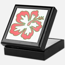 Surf Flowers (Pink and Green) Keepsake Box