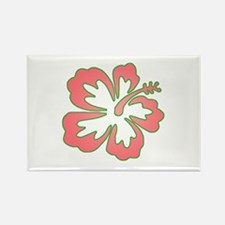 Surf Flowers (Pink and Green) Rectangle Magnet