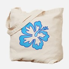 Blue Surf Flowers Tote Bag