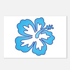 Blue Surf Flowers Postcards (Package of 8)