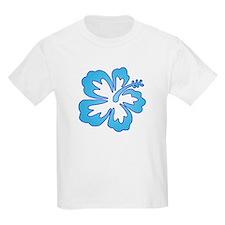 Blue Surf Flowers Kids T-Shirt