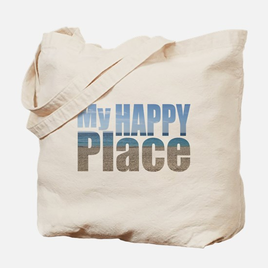 My Happy Place....the beach Tote Bag