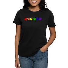 Rainbow Paws Women's Dark T-Shirt