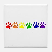 Rainbow Paws Tile Coaster