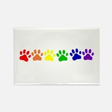 Rainbow Paws Rectangle Magnet
