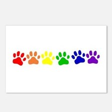 Rainbow Paws Postcards (Package of 8)