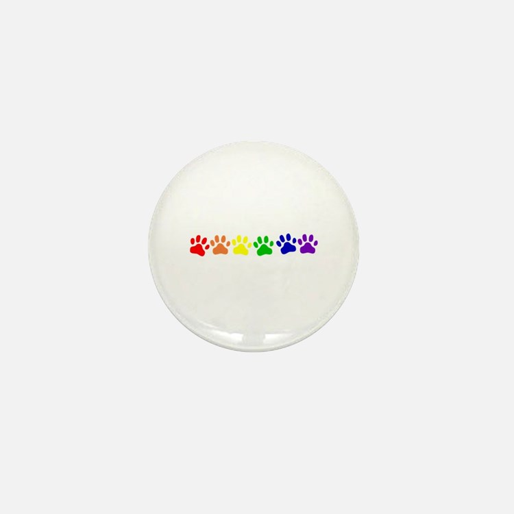 Rainbow Paws Mini Button