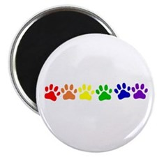 "Rainbow Paws 2.25"" Magnet (10 pack)"