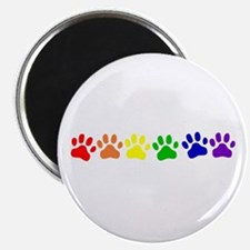 "Rainbow Paws 2.25"" Magnet (100 pack)"