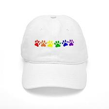 Rainbow Paws Baseball Cap